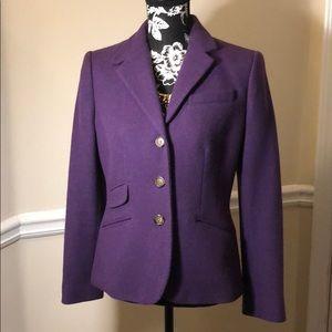 Purple Ralph Lauren wool blazer!